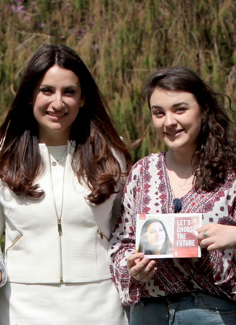 Luciana Berger Metro Mayor campaign.